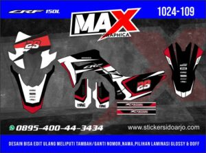 Sticker decal crf 150 maxgraphica cutting sticker sidoarjo