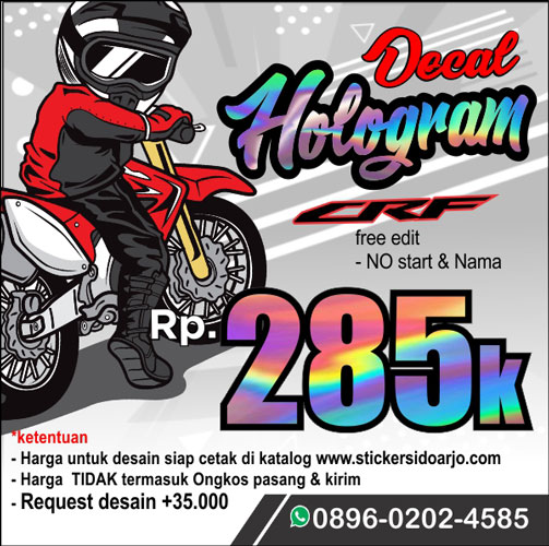 banner promo decal CRF 150 hologram 0408